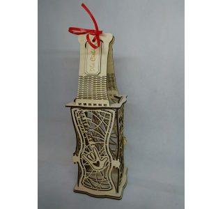 Eleganckie ozdobne pudełko na wino, whisky lub inny alkohol. (model A003)