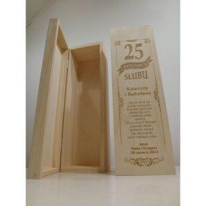 Eleganckie ozdobne pudełko na wino, whisky lub inny alkohol. (model A101)