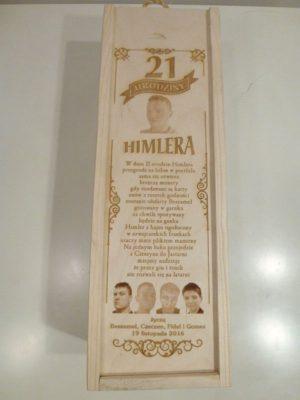 Eleganckie ozdobne pudełko na wino, whisky lub inny alkohol. (model A201)
