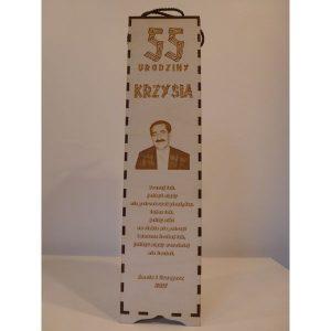 Eleganckie ozdobne pudełko na wino, whisky lub inny alkohol. (model A006)