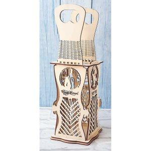 Eleganckie ozdobne pudełko na wino, whisky lub inny alkohol. (model A001)