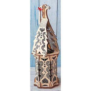 Eleganckie ozdobne pudełko na wino, whisky lub inny alkohol. (model A002)