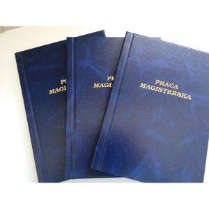 Oprawa introligatorska – prace dyplomowe