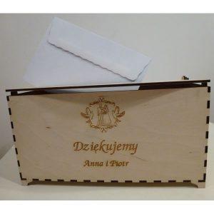 Eleganckie ozdobne pudełko na koperty (model A401)