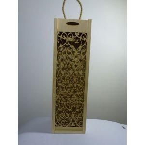 Eleganckie ozdobne pudełko na wino, whisky lub inny alkohol. (model A208)