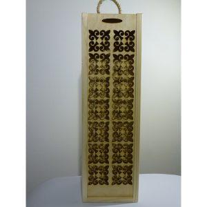 Eleganckie ozdobne pudełko na wino, whisky lub inny alkohol. (model A209)