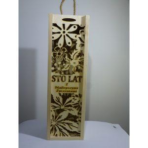 Eleganckie ozdobne pudełko na wino, whisky lub inny alkohol. (model A203)