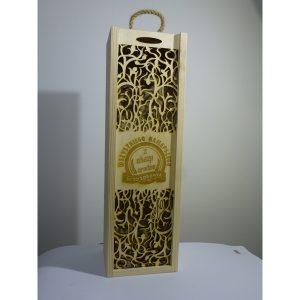 Eleganckie ozdobne pudełko na wino, whisky lub inny alkohol. (model A205)