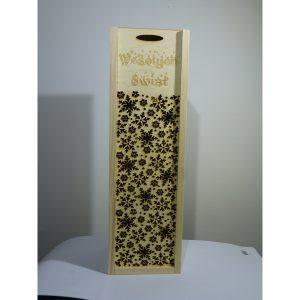 Eleganckie ozdobne pudełko na wino, whisky lub inny alkohol. (model A206)