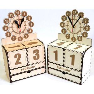 Organizer z zegarem i kalendarzem (model A550)