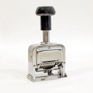 Ekonomiczny Numerator 8 pozycji 5 mm obudowa metalowa